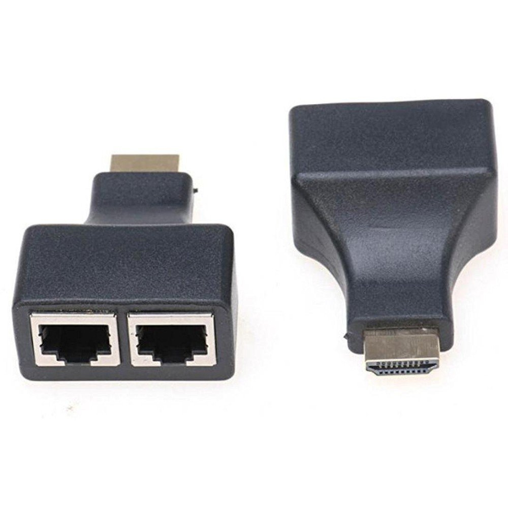 2 X Hdmi To Ethernet Adapter Hdmi Male To 2 Dual Rj45